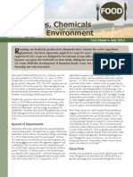 GE Crops, Chemicals and the Environment