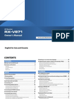 RX V871 Manual