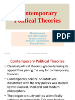 9. Contemporary Political Theories