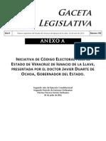 Iniciativa de Código Electoral para Veracruz, propuesto por Javier Duarte.