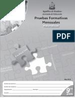 Prueba Formativa 9º Matemáticas (2010)