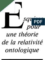 Daniel Verney - Esquisse pour une théorie de la relativité ontologique 1983
