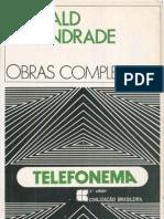 ANDRADE, Oswald - Obras Completas Vol 10 - O Telefonema