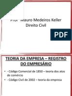 Teoria Da Empresa - Registro Do Empresario 2906