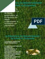 La descentralización en Guatemala