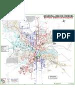 Mapa de Cba Ciudad - Recorrido de Colectivos