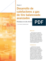 Desarrollo de calefactores a gas de tiro balanceado avanzados