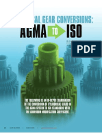 Converção de Valores AGMA - ISO - Artigo
