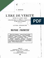 Céline Renooz -  L'Ere de Vérité 1 -  Le Monde Primitif