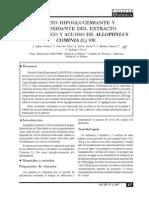 EFECTO HIPOGLUCEMIANTE Y ANTIOXIDANTE DEL EXTRACTO ALCOHÓLICO Y ACUOSO DE ALLOPHYLUS COMINIA