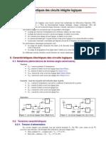 Caractéristiques des circuits intégrés logiques