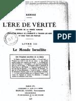 Céline Renooz - L'Ere de Vérité 3 - Le Monde Israélite