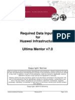 Ultima Mentor Version 7 1 - Required Data Inputs for Huawei