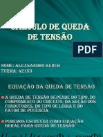 Calculo de Queda de Tensao - Alexsandro