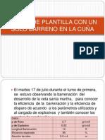 DISEÑO DE PLANTILLA CON UN SOLO BARRENO DE AIRE