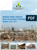 Memori Akhir Jabatan  Menteri Perumahan Rakyat - Suharso Monoarfa Tahun 2010-2011
