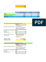 Sharepoint 2010 Capacity Planning and Sizing Sheet