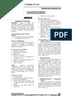 Taxation 1 - San Beda Law
