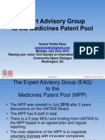 Experts Advisory Group in the Medicines Patent Pool