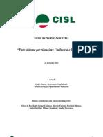 Ix Rapporto Industria Cisl