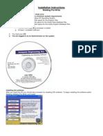 WPW Install Info