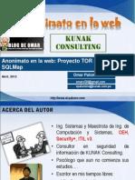 Navegacion y Ataques Anonimos en Internet SQLMap + TOR v2.0