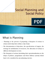 Social Policy and Social Planning