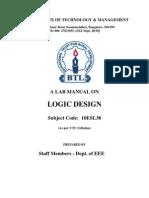 BTL Logic Design Lab Manual 10ESL38 3rd Sem 2011