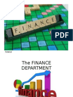 Finance Department Dept.