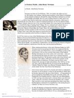 John Henry Newman Fact Sheet