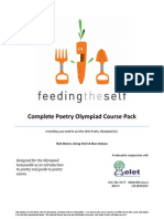 How to Read Poetry English Olympiad 2012 Teaching Guide