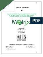 Project Report on M@Trix Cellular - Copy