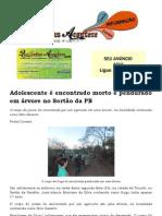 Adolescente é encontrado morto e pendurado em árvore no Sertão da PB