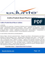 Andhra Pradesh Board Physics Syllabus