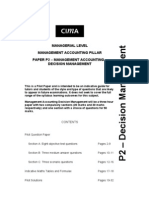 16013319 CIMA P2 Management Accounting Decision Management Sloved Past Papers