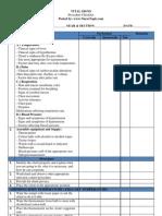 Vital Signs Procedures Checklist