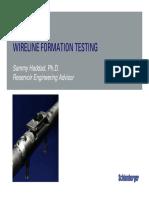 Schlumberger - Wireline Formation Testing