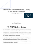 Document #9B - FY 2012 Year-To-Date Report