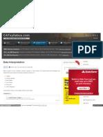 Www Catsyllabus Com Syllabus for Cat Data Interpretation