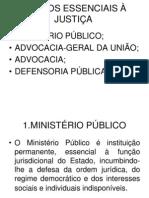 Prof. Susanna; ÓRGÃOS ESSENCIAIS À JUSTIÇA
