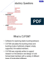 Cufsm Introduction