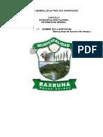 Monografia Del Municipio Raxruha, A.v. Icsa