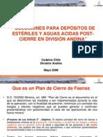 Caso Medidas de Cierre Division Andina de Codelco