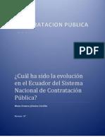HISTORIA DE LA CONTRATACION PÚBLICA EN EL ECUADOR