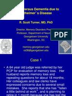 Aging versus Dementia due to Alzheimer's Disease