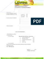 Formulir dan Petunjuk SUFENNIR