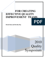 Guide for Creating Effective Quality Improvement Teams