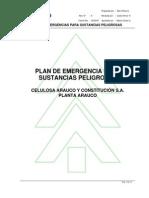Plan de Emergencia Para Sustancias Peligrosas