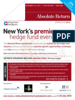 Absolute Return Symposium 2012