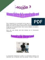 3.Géneros de la Comunicación Oral